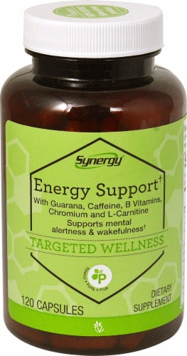 Vitacost Synergy Energy Support Capsules Perspective: front