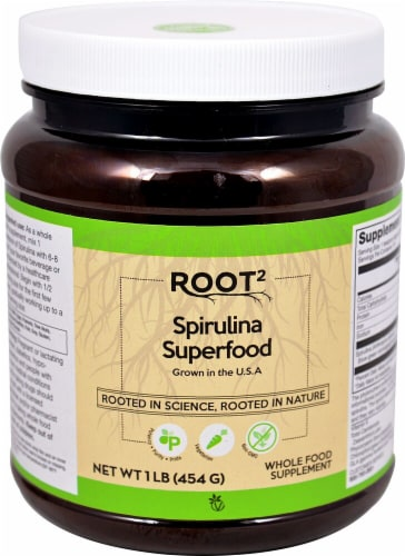 Vitacost Root2 Spirulina Powder Perspective: front