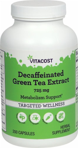 Vitacost  Decaffeinated Green Tea Extract Perspective: front