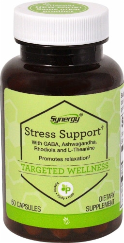 Vitacost  Synergy Stress Support  Featuring Sensoril and Suntheanine Perspective: front