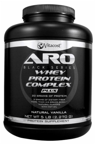 ARO-Vitacost Black Series Whey Protein Complex PLUS - Natural Vanilla Perspective: front