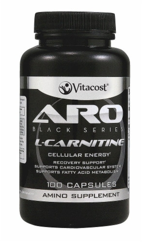 ARO-Vitacost  Black Series L-Carnitine Perspective: front