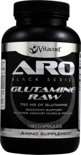 ARO Black Series Glutamine Raw Capsules Perspective: front