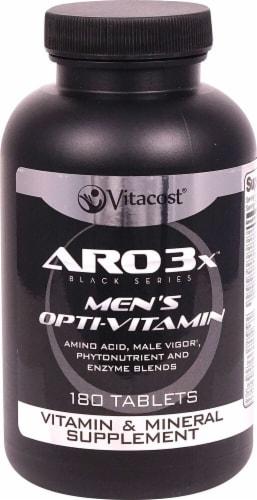 ARO-Vitacost  Black Series Men's Opti-Vitamin 75+ Nutrients Perspective: front