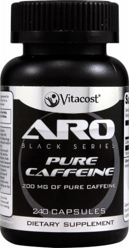 ARO-Vitacost Black Series Pure Caffeine Perspective: front