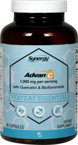 Vitacost Synergy Everyday Essentials Advan-C Capsules 1000mg Perspective: front