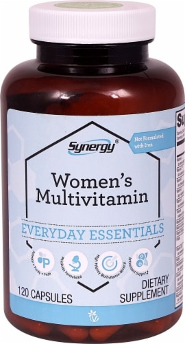 Vitacost Synergy Women's Multivitamin Capsules Perspective: front