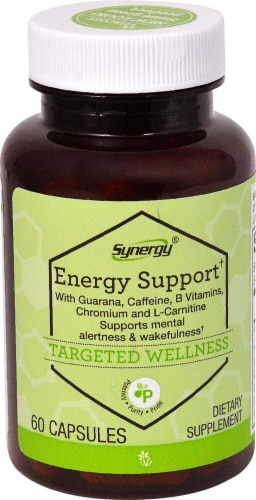 Vitacost Synergy Energy Support Dietary Supplement Perspective: front