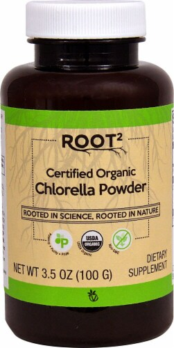 Vitacost  ROOT2 Certified Organic Chlorella Powder Perspective: front
