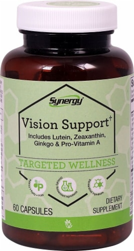 Vitacost Synergy Vision Support Capsules Perspective: front