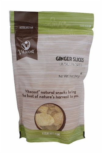 Vitacost Unsulphured Ginger Slices Perspective: front