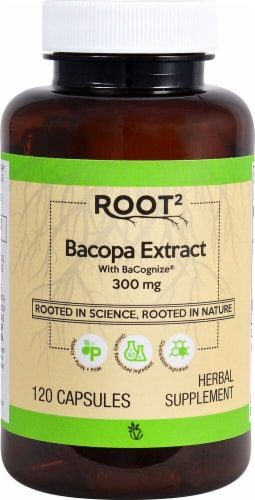 Vitacost ROOT2 Bacopa Extract 300mg Capsules Perspective: front