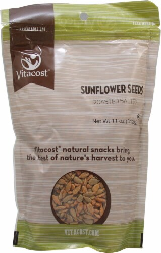 Vitacost  Roasted and Salted Sunflower Seed Perspective: front