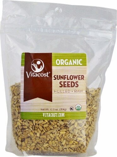 Vitacost Organic Hulled Raw Sunflower Seeds Perspective: front