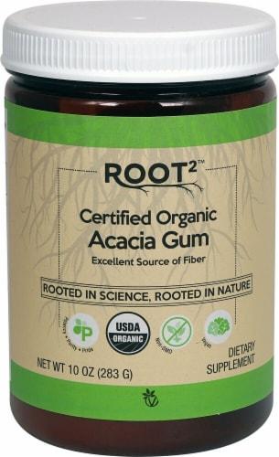 Vitacost ROOT2 Certified Organic Acacia Gum Fiber Supplement Perspective: front