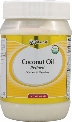 Vitacost  Odorless & Flavorless Organic Refined Coconut Oil Perspective: front