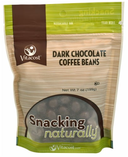 Vitacost Dark Chocolate Covered Coffee Beans Perspective: front