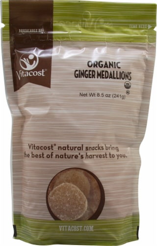 Vitacost Organic Ginger Medallions Perspective: front