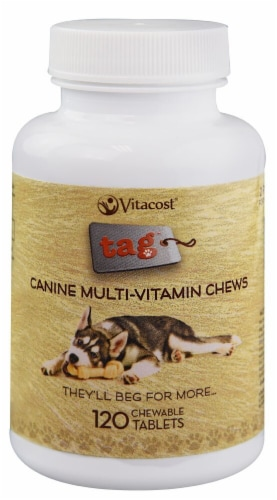 Vitacost - Tag  Canine Multi-Vitamin Chews Perspective: front