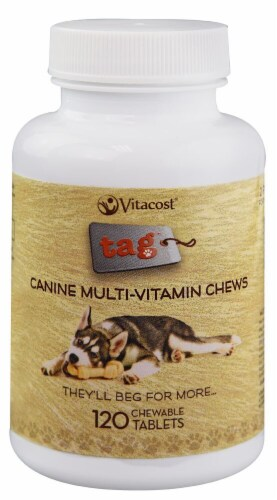 Vitacost - Tag Canine Multi-Vitamin Chewable Tablets Perspective: front