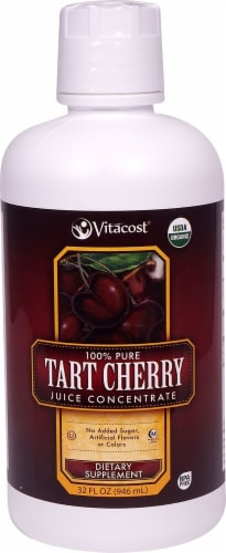 Vitacost  100% Pure Organic Tart Cherry Juice Concentrate Perspective: front