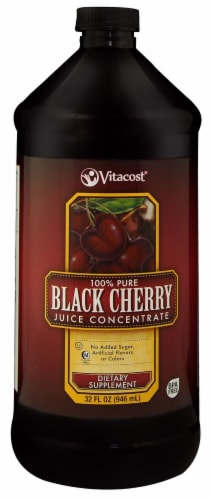 Vitacost 100% Pure Black Cherry Juice Concentrate Perspective: front
