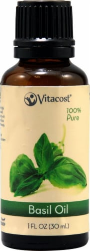 Vitacost  Essential Oils 100% Pure Basil Perspective: front