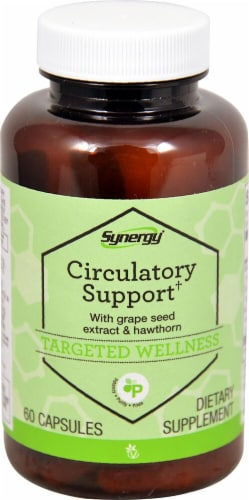 Vitacost Synergy Grape Seed & Hawthorn Circulatory Support Capsules Perspective: front
