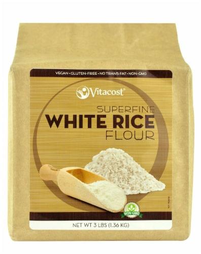 Vitacost  Superfine White Rice Flour - Non-GMO and Gluten Free Perspective: front