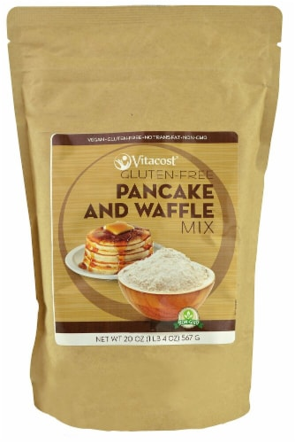 Vitacost  Pancake and Waffle Mix - Non-GMO and Gluten Free Perspective: front