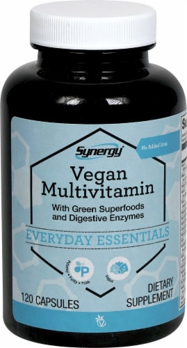 Vitacost Synergy Vegan Multivitamin Capsules Perspective: front