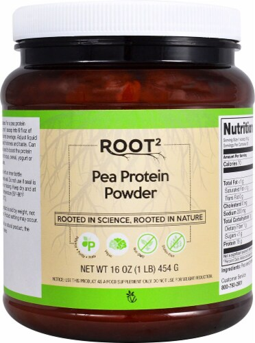 Vitacost Root2 Pea Protein Powder Perspective: front
