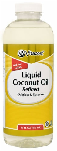 Vitacost Liquid Coconut Oil Perspective: front