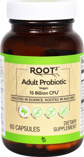 Vitacost Root2 Adult Probiotic Capsules Perspective: front