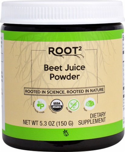 Vitacost ROOT2 Beet Juice Powder Dietary Supplement Perspective: front