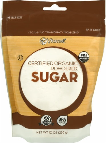 Vitacost Certified Organic Powdered Sugar Perspective: front