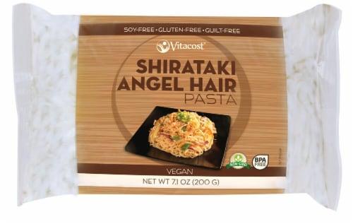 Vitacost  Shirataki Angel Hair Pasta - Non-GMO and Gluten Free Perspective: front