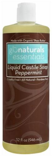 Vitacost - Glonaturals Essentials Collection Peppermint Liquid Castile Soap Perspective: front