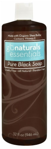 Vitacost - Glonaturals Essentials Collection Liquid Pure Black Soap Perspective: front