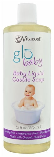 Vitacost Globaby Unscented Baby Liquid Castile Soap Perspective: front