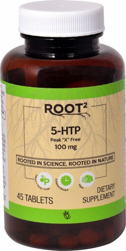 Vitacost ROOT2 5-HTP Tablets 100mg Perspective: front