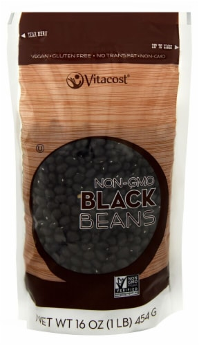 Vitacost Non-GMO Black Beans Perspective: front