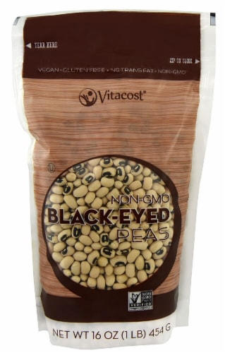 Vitacost  Non-GMO Black-Eyed Peas Perspective: front