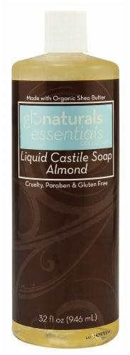 Glonaturals Essentials Collection Almond Liquid Castile Soap Perspective: front