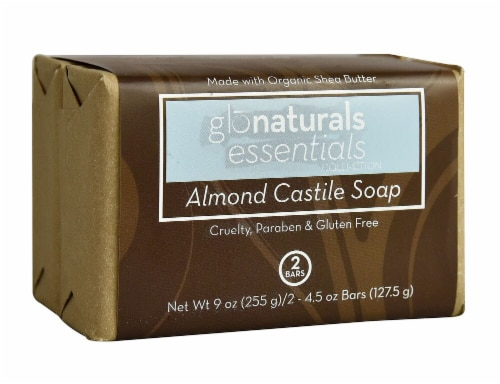 Glonaturals Essentials Collection Castile Soap Almond Perspective: front
