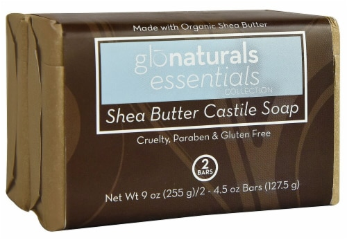 Glonaturals Essentials Collection Castile Soap Shea Butter Perspective: front