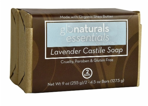 Vitacost Glonaturals Essentials Collection Lavender Castile Soap Perspective: front