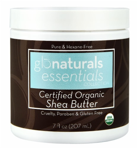 Glonaturals Essentials Collection Certified Organic Shea Butter Perspective: front