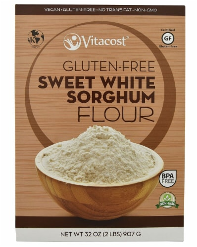 Vitacost  Sweet White Sorghum Flour - Non-GMO and Gluten Free Perspective: front