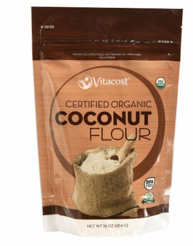 Vitacost  Certified Organic Coconut Flour Perspective: front